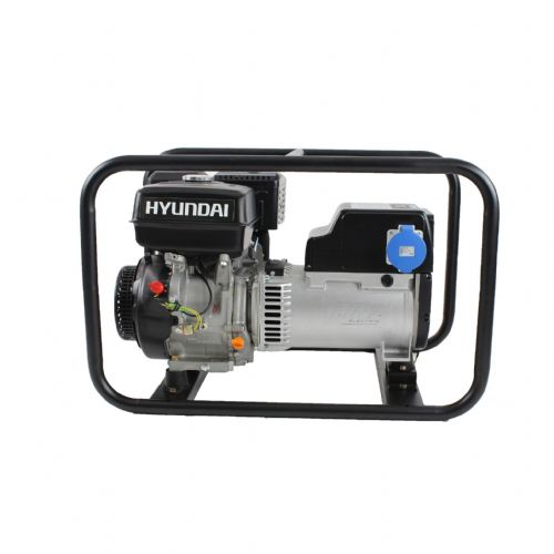 Hyundai HY8500 Hire Pro Recoil Start Site Petrol Generator 7Kw 115/230V~50Hz
